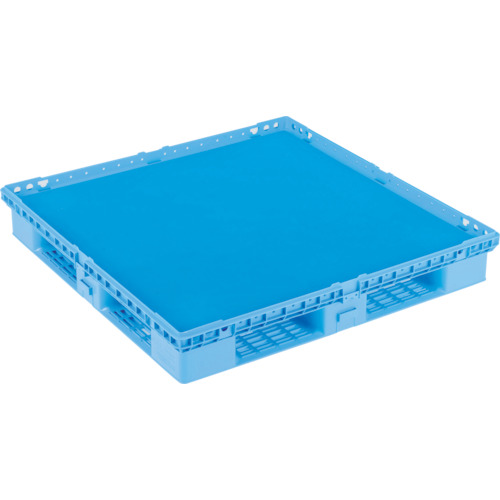 【直送】【代引不可】サンコー(三甲) プラスチックパレット キャスター付 ブルー SK-D4-1111M-BL