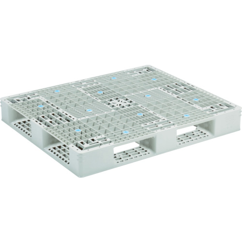 【直送】【代引不可】サンコー(三甲) プラスチックパレット 1200X1000 グレー SK-GT-1012D4-2-GLA