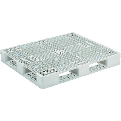 【直送】【代引不可】サンコー(三甲) プラスチックパレット 1200X1000 グレー SK-GT-1012D4-GLA