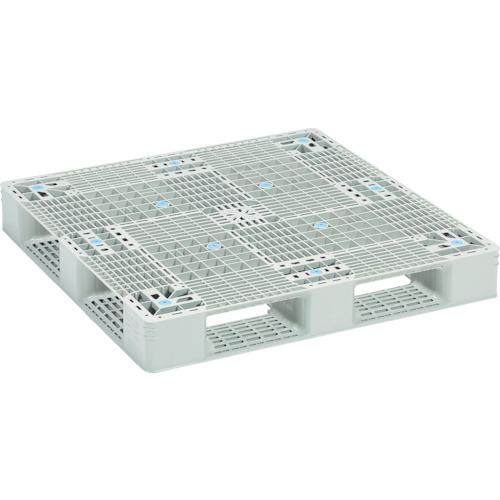 【直送】【代引不可】サンコー(三甲) プラスチックパレット 1100X1100 グレー SK-GT-1111D4-GL
