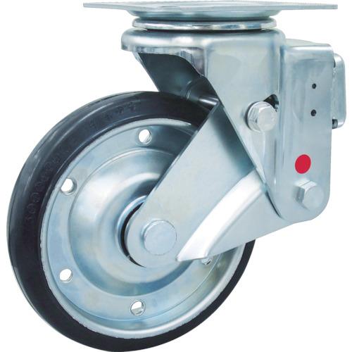 ユーエイキャスター スカイキャスター自在車 200径 鋼板ホイル耐摩耗ゴムB入車輪 SKY-1S200WF-AR-AS