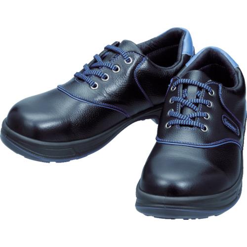シモン(Simon) 安全靴 短靴 SL11-BL黒/ブルー 23.5cm SL11BL-23.5