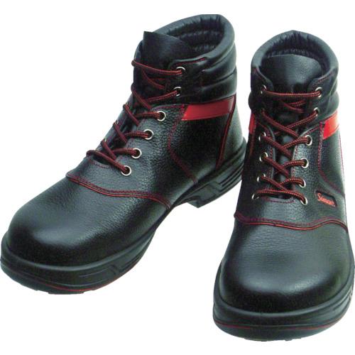 シモン(Simon) 安全靴 編上靴 SL22-R黒/赤 25.0cm SL22R-25.0