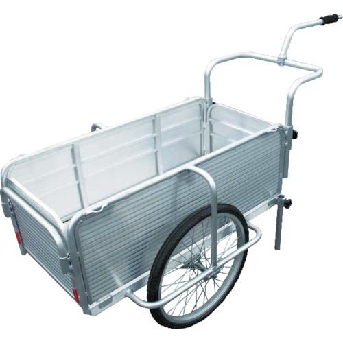 【直送】【代引不可】昭和ブリッジ オールアルミ製折りたたみリヤカー自転車けん引式 マルチキャリー SMC-10C
