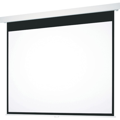【直送】【代引不可】OS(オーエス) 120型 手動巻上げ式スクリーン ホワイト生地 SMP-120VM-W1-WG