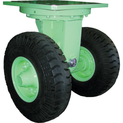 【直送】【代引不可】佐野車輌製作所 超重量級キャスター ダブル自在車 荷重4800kgタイプ 284-5