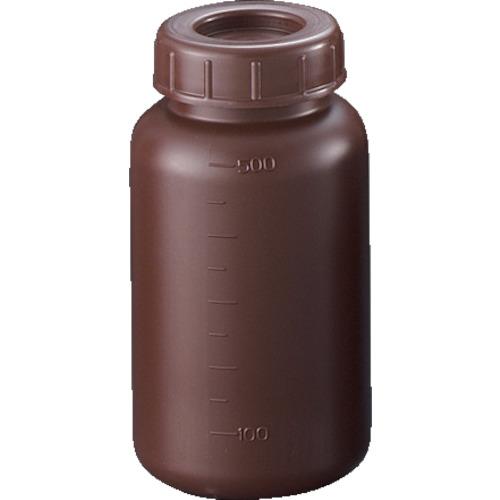 【直送】【代引不可】サンプラテック PE広口遮光瓶 500ml (100個入) 2912