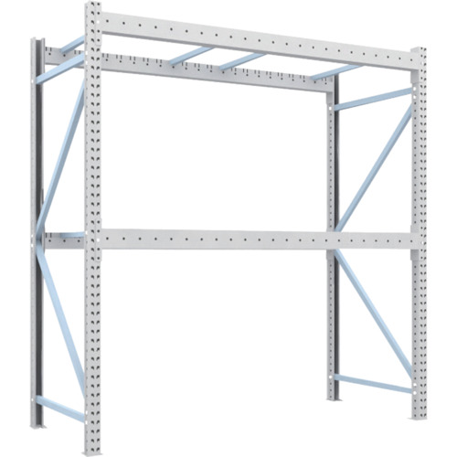 【直送】【代引不可】TRUSCO(トラスコ) 重量パレット棚 2トン用 2300X1000XH2500 単体 2D-25B23-10-2
