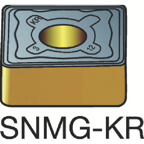 サンドビック T-Max P 旋削用ネガ・チップ 3205 10個 SNMG 12 04 08-KR 3205