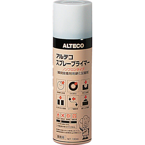 ALTECO(アルテコ) 瞬間接着剤用硬化促進剤 スプレープライマー 100ml 25本 SPRAYPRIMER-100