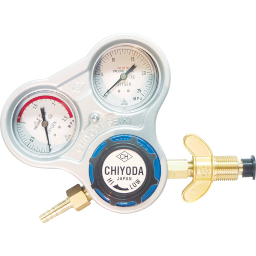 千代田精機 酸素用調整器 スタウト(関西式)乾式安全器内蔵型 キャスター式 SRO-A-W