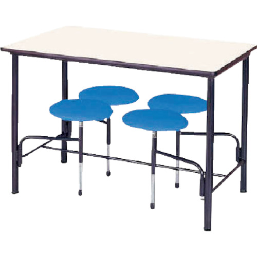 【直送】【代引不可】ニシキ工業 食堂テーブル 4人掛 ブルー STM1275B