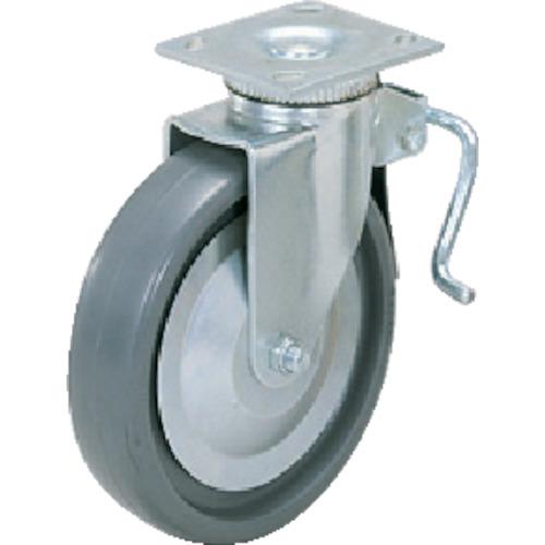 スガツネ工業 重量用キャスター 自在ストッパー付 φ150 ソリッドエラストマー車輪 SUGT-406B-PSE