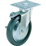 スガツネ工業 重量用キャスター 自在ストッパー付 φ150 エラストマー車輪 SUGT-76B-PSE