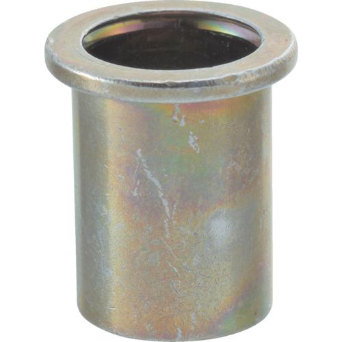 TRUSCO(トラスコ) クリンプナット 平頭 M4板厚0.5~1.5 スチール 箱入 TBN-4M15S-C