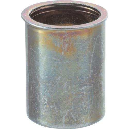 TRUSCO(トラスコ) クリンプナット 薄頭 M5板厚1.5~2.5 スチール 箱入 TBNF-5M25S-C
