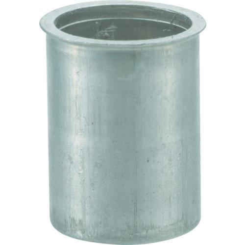TRUSCO(トラスコ) クリンプナット 薄頭 アルミ 板厚4.0 M6X1 1000個入 TBNF-6M40A-C