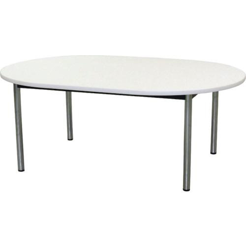 【直送】【代引不可】TOKIO(藤沢工業) ミーティングテーブル 楕円型 1800X1200mm ホワイト TC-1812R-W
