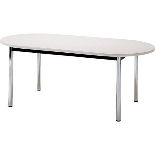 【直送】【代引不可】TOKIO(藤沢工業) ミーティングテーブル 楕円型 1800X900mm ホワイト TC-1890R-W