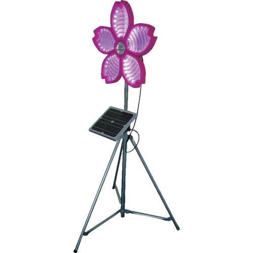 仙台銘板 桜サークラー ソーラー式大型回転灯 三脚付 電源セット 3050800