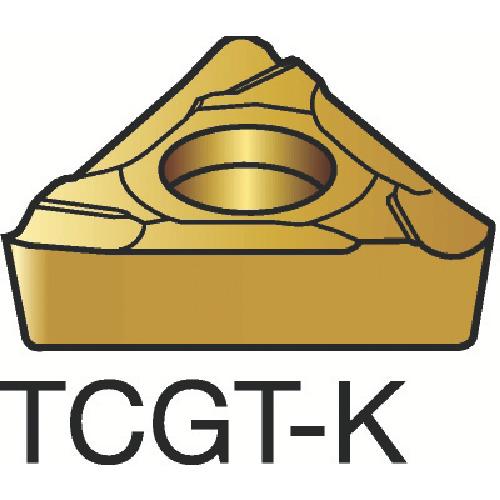 サンドビック コロターン107 旋削用ポジ・チップ 1515 10個 TCGT 09 02 04L-K 1515