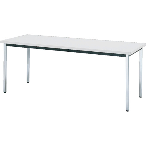 【直送】【代引不可】TRUSCO(トラスコ) 会議用テーブル 1500X900XH700 角脚 下棚無 ホワイト TD-1590-W