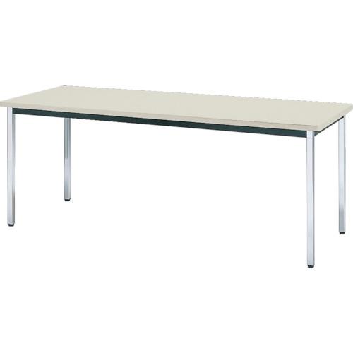 【直送】【代引不可】TRUSCO(トラスコ) 会議用テーブル 1500X750XH700 角脚 下棚無し ニューグレー TDS-1575