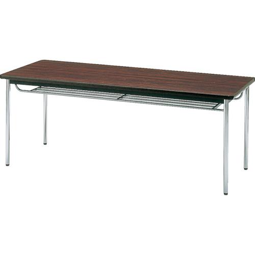 【直送】【代引不可】TRUSCO(トラスコ) 会議用テーブル 1800X450XH700 丸脚 ローズ TDS-1845T