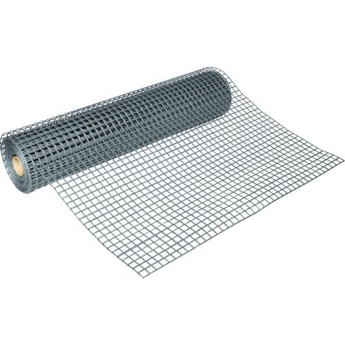 【直送】【代引不可】TRUSCO(トラスコ) 多目的樹脂ネット シルバー1mX10m 目合25mmX25mm T-H06PB