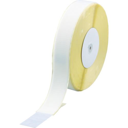 TRUSCO(トラスコ) マジックテープ(フックタイプ) 糊付 50X25m白 TMAN-5025-W