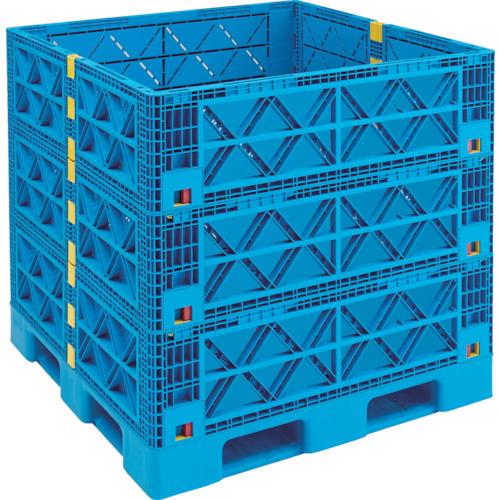 【直送】【代引不可】TRUSCO(トラスコ) マルチステージコンテナ 3段 1100X1100 青 TMSC-S1111-B