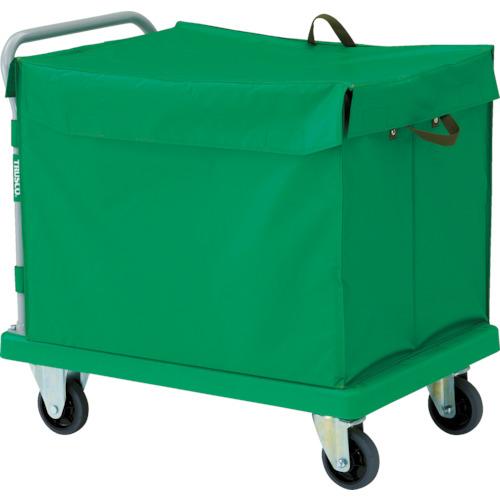 【直送】【代引不可】TRUSCO(トラスコ) 樹脂製運搬車グランカート 蓋付ハンドトラックボックス付 900X605 TP-902-THB
