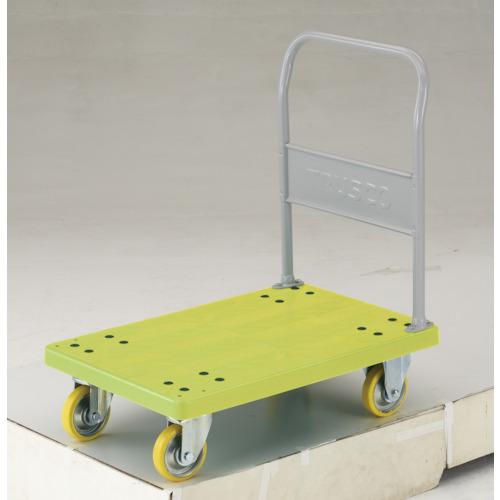 【直送】【代引不可】TRUSCO(トラスコ) 帯電防止性樹脂運搬車 グランカート 固定 800X535 TP-E802