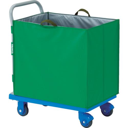 TRUSCO(トラスコ) 樹脂製運搬車グランカート サイレント 蓋無ハンドトラックボックス付 718X468 TP-X702-THBA