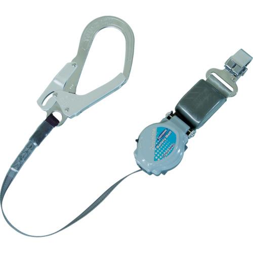ツヨロン(藤井電工) フルハーネス安全帯用ランヤード 巻取式 ショックアブソーバ付 TR-93-33-LY170-BP