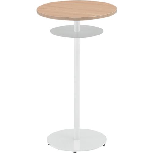 イトーキ ハイテーブル(円型)棚付 600X1000mm TRA-060HCT-W998
