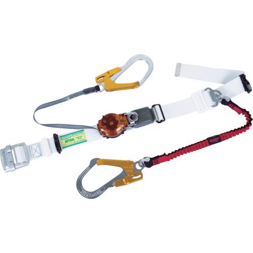 ツヨロン(藤井電工) ツインランヤード安全帯 白色 2ウェイ・ノビロン TRL-2-OT93OC-NVRE-W-OR-BP