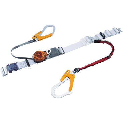 ツヨロン(藤井電工) なでしこツインランヤード安全帯 白色 2ウェイ・ノビロン S型 TRL-2-OT93OC-NVRE-W-OR-S-BP