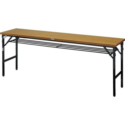 【直送】【代引不可】TRUSCO(トラスコ) 折畳会議テーブル ワイドクランク 1800X600XH700 ストッパー付 TSMW-1860