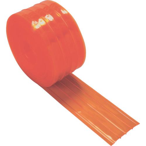 【直送】【代引不可】TRUSCO(トラスコ) ストリップ型リブ付き間仕切りシート 防虫オレンジ 2X200X30m TSRBO-220-30