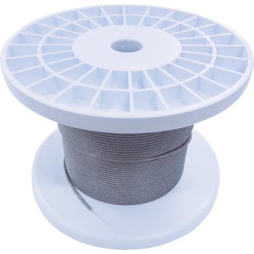 ニッサチェイン 透明コーティングワイヤロープ 2.0mm×100m 1巻 TSY20V-CLR