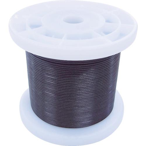 ニッサチェイン 黒コーティングワイヤロープ 0.85mm×100m 1巻 TSY8V-BK