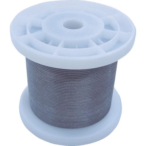 ニッサチェイン 透明コーティングワイヤロープ 0.85mm×100m 1巻 TSY8V-CLR