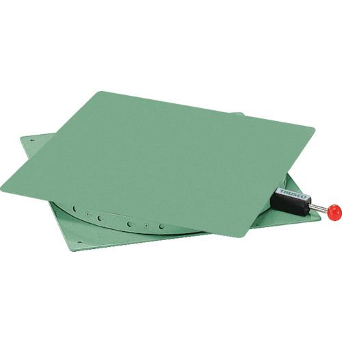 【直送】【代引不可】TRUSCO(トラスコ) 回転台 角型テーブル 鉄板400X400 耐荷重300kg TT-400
