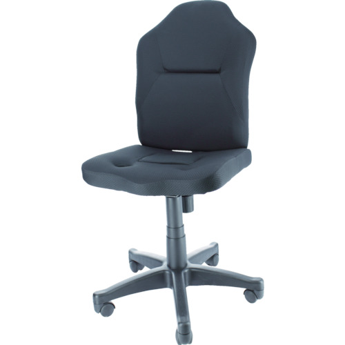 TRUSCO(トラスコ) ダブルクッション 長時間椅子(肘掛無し) ブラック TWCC-BK