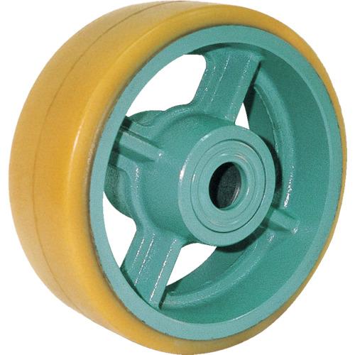 ヨドノ 鋳物重荷重用キャスター ウレタン車輪ベアリング入 φ300X100 UHB300X100