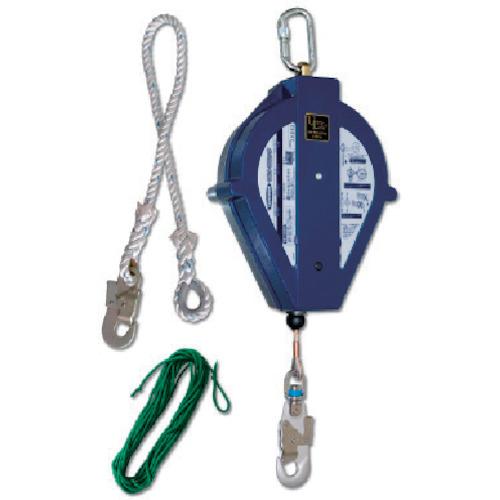 ツヨロン(藤井電工) ワイヤーロープ巻取式 ウルトラロック25メートル 台付・引寄ロープ付 UL-25S-BX