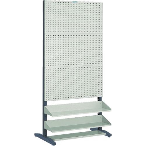 【直送】【代引不可】TRUSCO(トラスコ) パンチングラック 棚板付 両面 UPR-6004