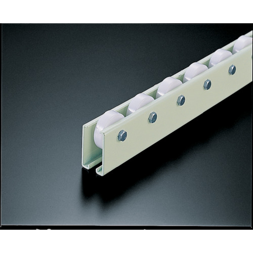 TRUSCO(トラスコ) ホイールコンベヤ 樹脂製φ38X12 P50XL1800mm V-38N-50-1800