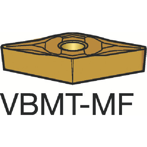 サンドビック コロターン107 旋削用ポジ・チップ 1125 10個 VBMT 16 04 02-MF 1125